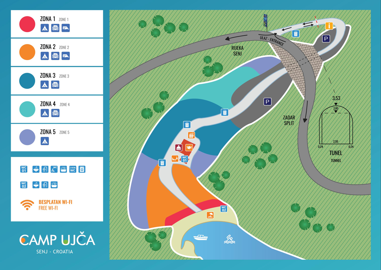 Mappa del Campeggio